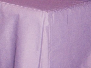 Full/Double Light Purple Tailored Dustruffle Bedskirt