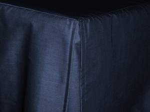 Full/Double Navy Blue Tailored Dustruffle Bedskirt