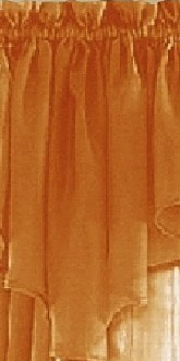 Orange Sheer Window Scarf Valance