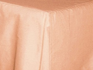 Twin XL Peach Tailored Dustruffle Bedskirt