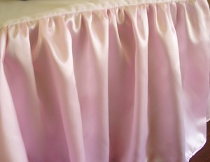 California King Pink Satin Dustruffle Bedskirt