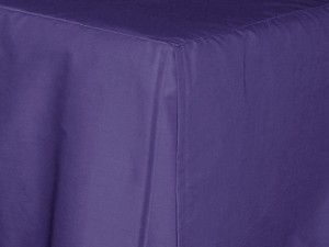 Twin XL Purple Tailored Dustruffle Bedskirt