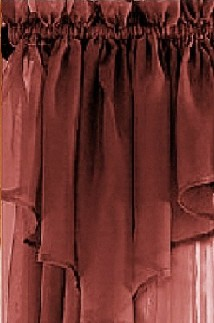Brick Red Sheer Window Valance
