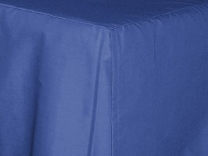 3/4 Three Quarter Royal Blue Tailored Dustruffle Bedskirt