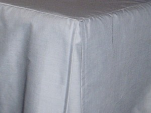 3/4 Three Quarter Light Silver Gray Tailored Dustruffle Bedskirt