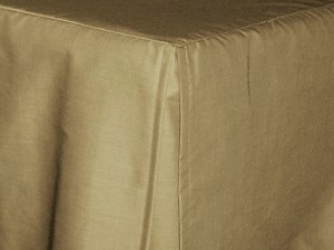 Full/Double Taupe Khaki Tailored Dustruffle Bedskirt