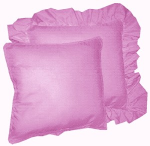 Violet Purple Solid Colored Ruffled or Corded Pillows Set of 2