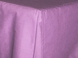 Twin XL Violet Tailored Dustruffle Bedskirt