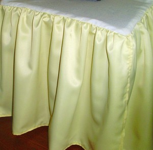 3/4 Three Quarter Yellow Satin Dustruffle Bedskirt