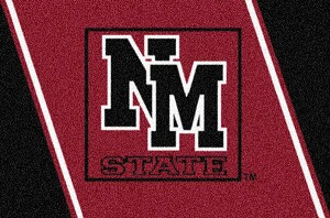 New Mexico State Aggies Team Logo Area Rug
