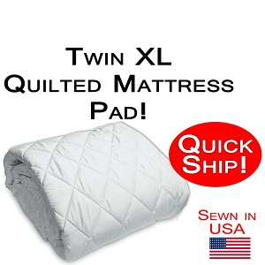 Quick Ship! Twin XL Size Quilted Mattress Pad