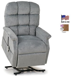 Lift Chair Recliner, Medium Size, Hampton with 2-Motor Heat and Massage
