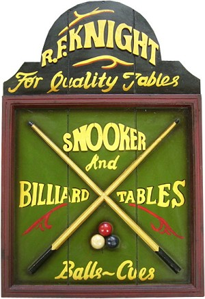 R.F. Knight Pool Table Plaque