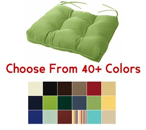 "Tufted Chair Back Cushion 24.5"" x 20"", CHOOSE YOUR COLOR"