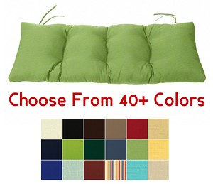"Tufted Bench Cushion 45"" x 17.5"", CHOOSE YOUR COLOR"