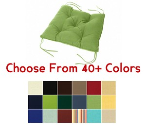 "Tufted Chair Back Cushion 24"" x 20"", CHOOSE YOUR COLOR"