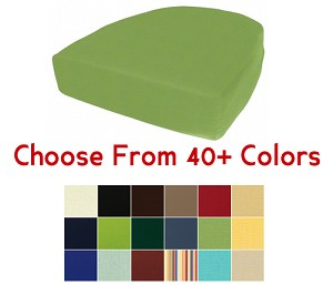 "Side Chair or Rocker Cushion 19.5"" x 20"", CHOOSE YOUR COLOR"