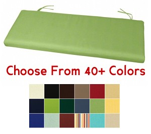 "Bench Cushion 45"" x 17.5"", CHOOSE YOUR COLOR"