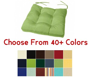 "Tufted Chair Cushion 19"" x 18"", CHOOSE YOUR COLOR"