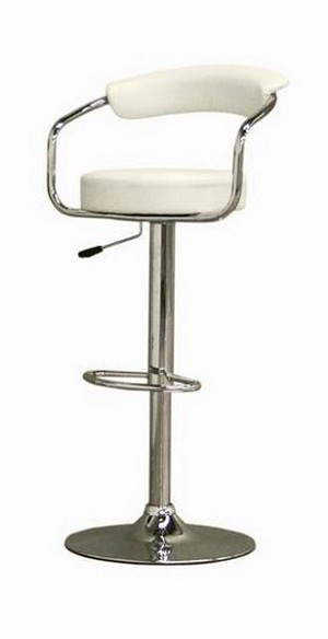 Omicron Stool in White Finish Restaurant Furniture