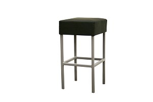 Andante Black Faux Leather Counter Stool Restaurant Furniture