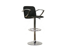 Carmen Black Faux Leather Bar Stool Restaurant Furniture
