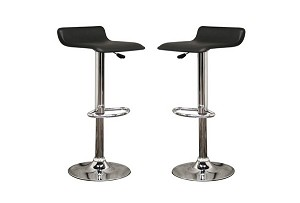 Vita Black Faux Leather Modern Bar Stool Restaurant Furniture