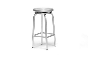 Aluminum Spin Swivel Bar Stool with Brushed Finish