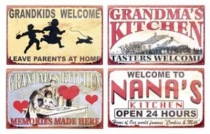 Grandkids, Nana, Grandma Signs set of four