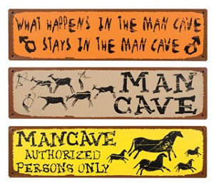 Man Cave Signs set of three