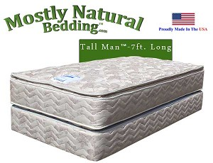 Tall Man™ Twin Size Abe Feller® Mattress Set GRAND