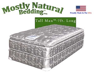 Tall Man™ Twin Size Abe Feller® Mattress Set PREMIUM