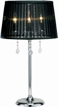 Cabaret Table Lamp with Chrome Finish