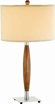 Hudson Table Lamp with Dark Maple Finish