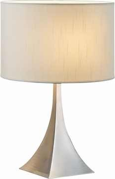 Luxor Table Lamp with Satin Steel Finish