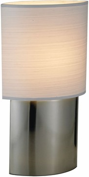 Sophia Table Lamp with Satin Steel Finish