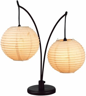 Spheres Table Lamp with Antique Bronze Finish
