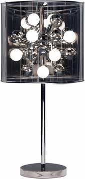 Starburst Table Lamp with Steel Finish