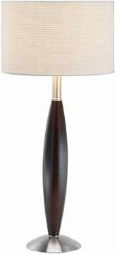 Twist Table Lamp with Walnut Finish