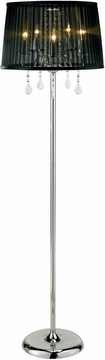 Cabaret Floor Lamp with Chrome Finish