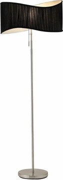 Symphony Floor Lamp with Satin Steel Finish