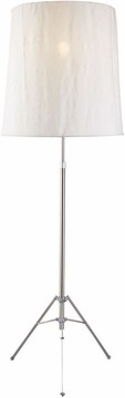 Trident Floor Lamp with Satin Steel Finish