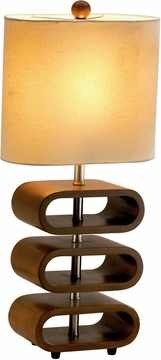 Rhythm Tall Table Lamp with Walnut Finish