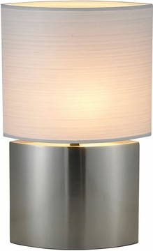 Sophia Tall Table Lamp with Satin Steel Finish