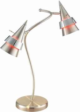 Blaze Spiral Table Lamp with Satin Steel Finish