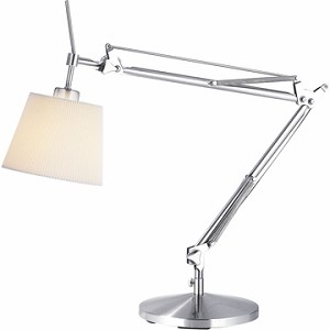 Architect Desk Lamp with Satin Steel Finish