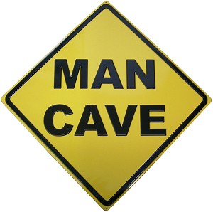 Man Cave Diamond Embossed Tin Sign