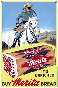 Merita Bread Metal Sign