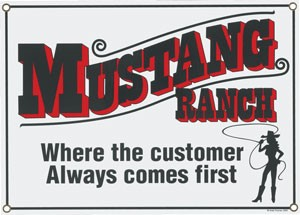 Mustang Ranch Metal Sign