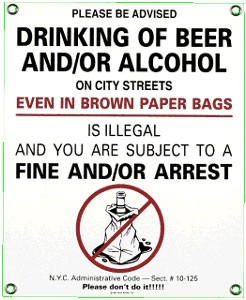 No Alcohol Metal Sign